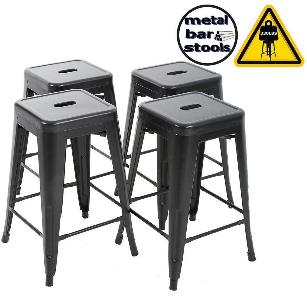 "bar stools counter stool barstools 24""industrial metal bar"