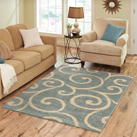 Better Homes and Gardens Swirls Soft Shag Area Rug or Runner ()