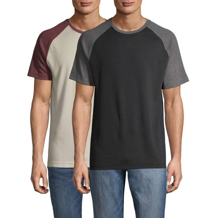 George Men's and Big Men's Raglan T-Shirt - 2 Pack, up to Size 5XL