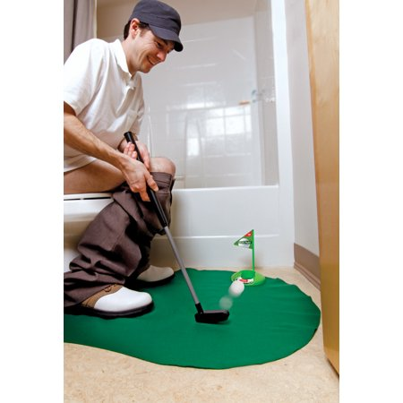 Golf Potty Putting Game 7 Pc Novelty Set Bathroom Putting