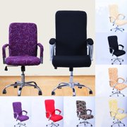 Computer Chair Covers Elastic Spandex Office Chair Covers Rotating Swivel Chair Seat Covers Washable Durable Chair Cover