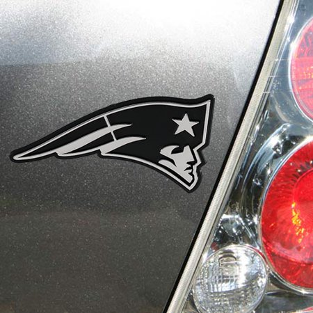 Patriots Car Sticker (New England Patriots Auto Emblem - Silver - No)