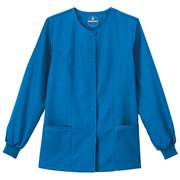 F3 Fundamentals By White Swan Womens Snap Front Warm Up Solid Scrub Jacket XXXLarge Royal Blue