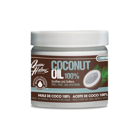 Queen Helene 100% Coconut Oil for Body, Hair, Lips and Nail, 10.75