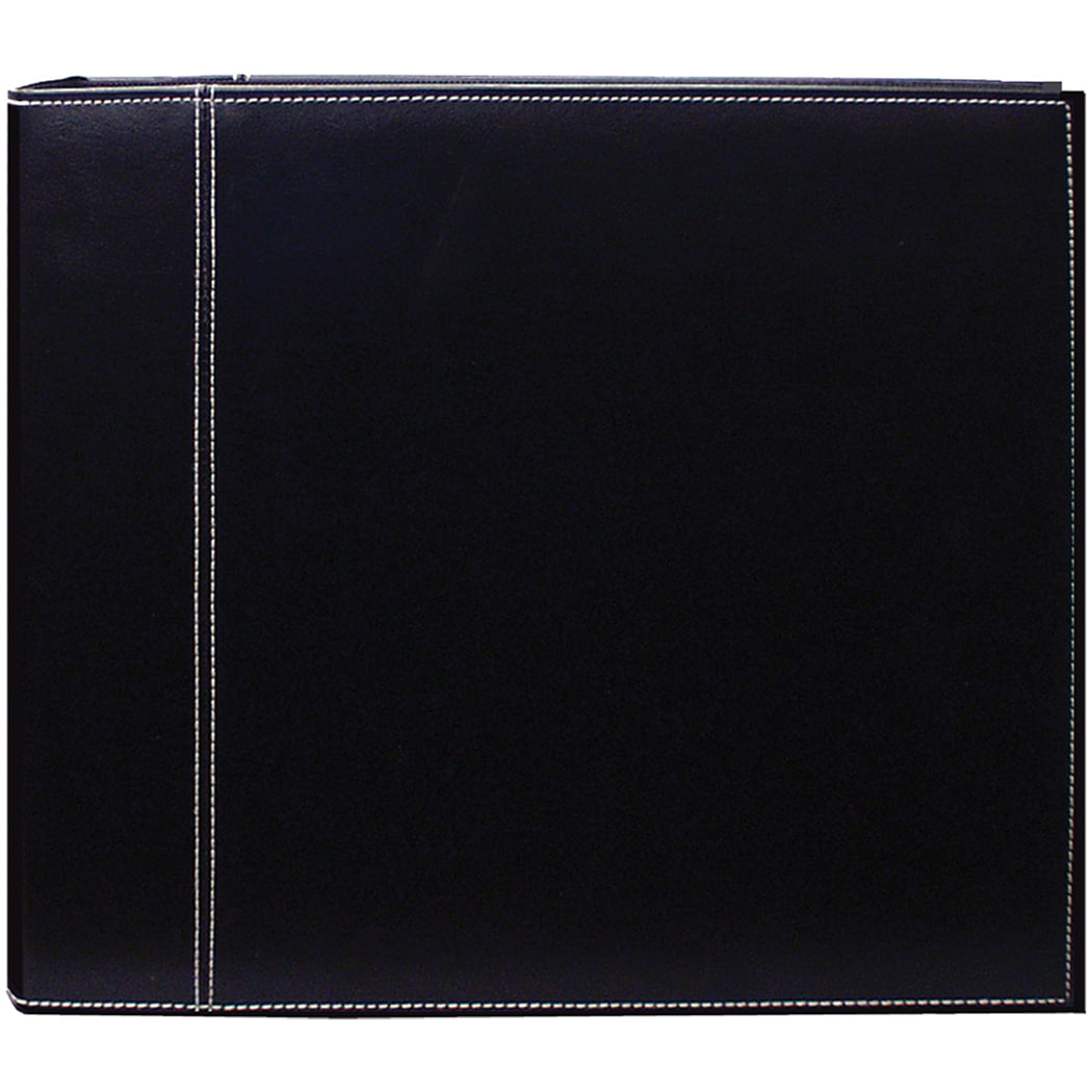 Pioneer 12 X 12 3-Ring Scrapbook Binder Black/Black Sewn