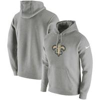New Orleans Saints Nike Club Fleece Pullover Hoodie - Heathered Gray