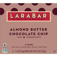 LARABAR Almond Butter Chocolate Chip Bars, Gluten Free