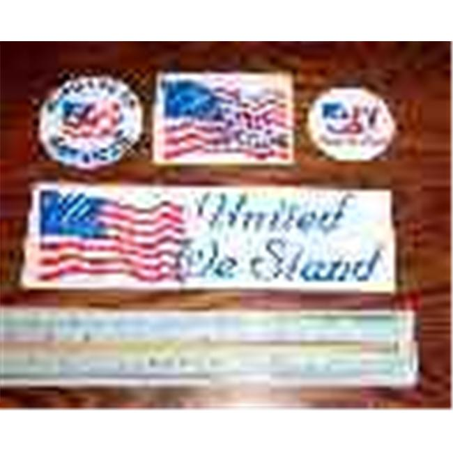 Bulk Savings 231016 4 Assorted Patriotic Sticker Sheet Sheet- Case of 100
