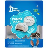 Blue Bunny Cookies 'N Cream Ice Cream, 6 pk, 2.4 fl oz