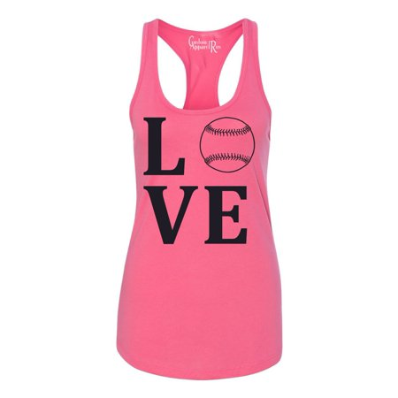 Love Baseball Sports Apparel Womens Graphic Tees Racerback Tank](Cheap Sports Apparel)
