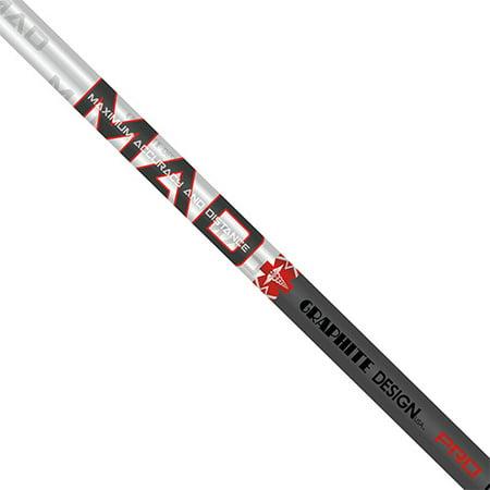 Graphite Design MAD PRO 75 X-Flex Graphite Shaft + Adapter & (Graphite Reg Shaft)