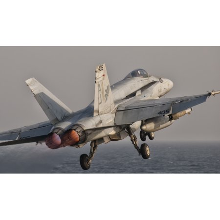 A Fa 18C Hornet Taking Off From Uss George Hw Bush Canvas Art   Giovanni Collastocktrek Images  19 X 11