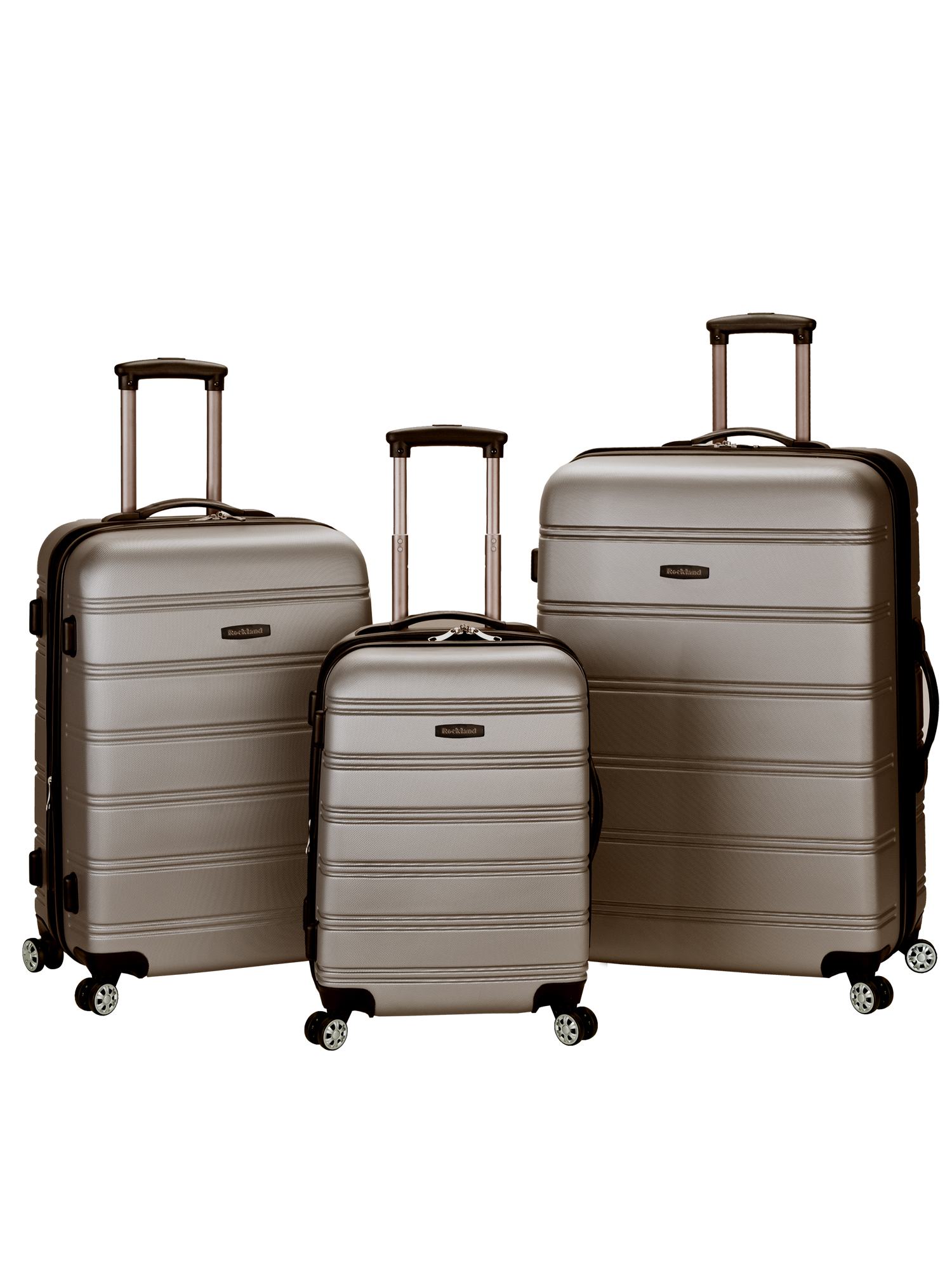 b816c0c99 Rockland Luggage Melbourne 3 Piece Hardside Luggage Set - Walmart.com