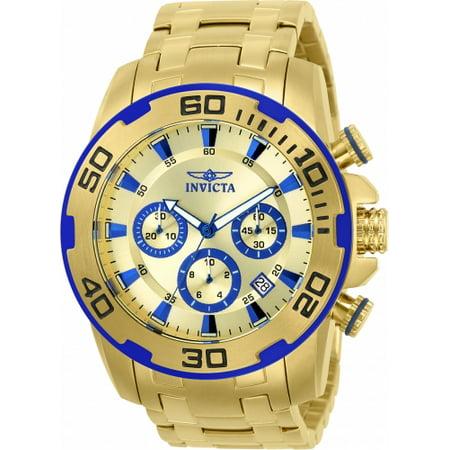 Invicta Men's 22320 Pro Diver Quartz Chronograph Gold Dial Watch
