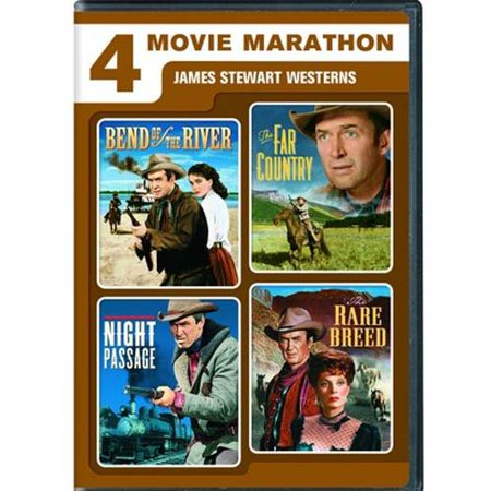 4 Movie Marathon: James Stewart Western Collection - Bend Of The River / The Far Country / Night Passage / The Rare Breed (Full Frame / Anamorphic Widescreen)