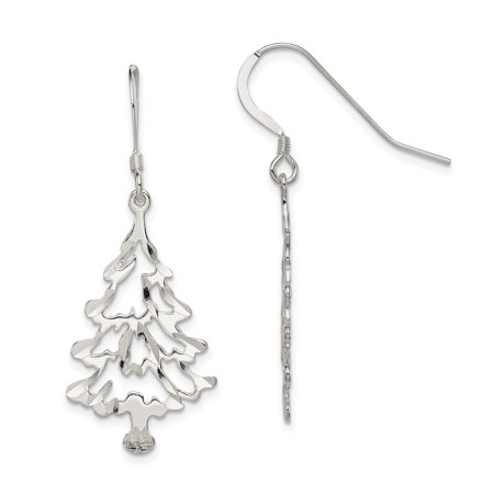 ICE CARATS 925 Sterling Silver Christmas Tree Drop Dangle Chandelier Earrings Holiday Fine Jewelry Ideal Gifts For Women Gift Set From Heart - Christmas Jewelry Ideas