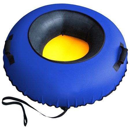 Porpora Big Tire Inflatable Snow Tube Sled (Best Inflatable Snow Tube)