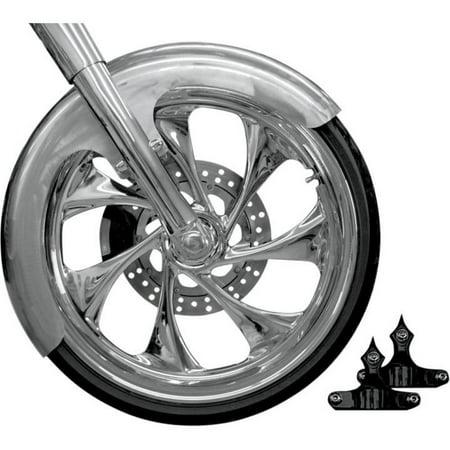 RC Components FNDRKT23-B Front Fender Kit for 23in. Wheel - Builder Cut - Black -