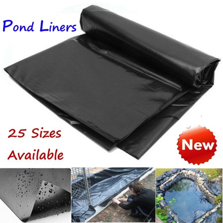 On Clearance 8-20 ft Durable Fish Pond Liner Gardens & Patio Pools PVC Membrane Reinforced Landscaping (12 Pond Liner)