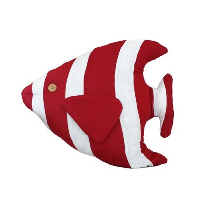 Handcrafted nautical decor tropical fish throw pillow for Fish body pillow
