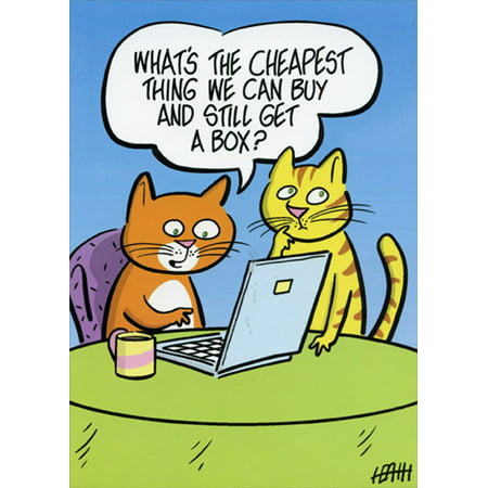Oatmeal Studios Cats Shopping Online Funny Birthday Card