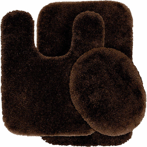 Finest Luxury Ultra Plush Nylon 3-Piece Washable Bathroom Rug Set by Garland Rug