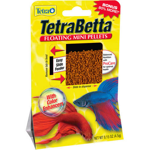 Tetra Betta Floating Mini Pellets, 0.15 oz