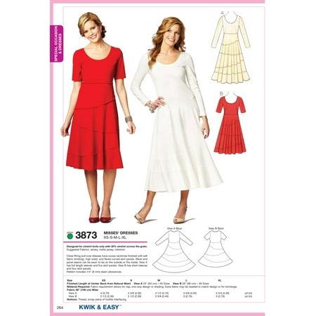 Kwik Sew Pattern Dresses, (XS, S, M, L, XL) (Morticia Dress Pattern)