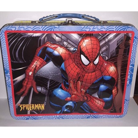 The Tin Box Company Spiderman 3d Embossed lunch box](Spiderman Lunch Box)