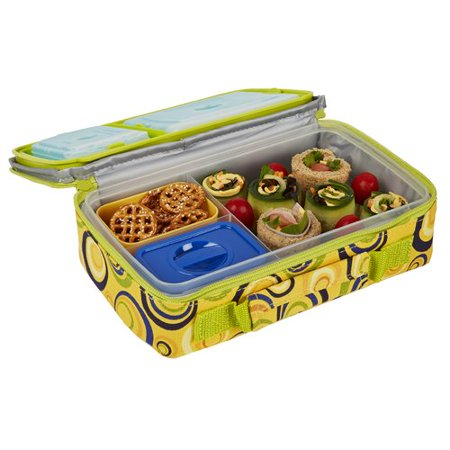 fit fresh bento lunch kit with insulated carrier. Black Bedroom Furniture Sets. Home Design Ideas
