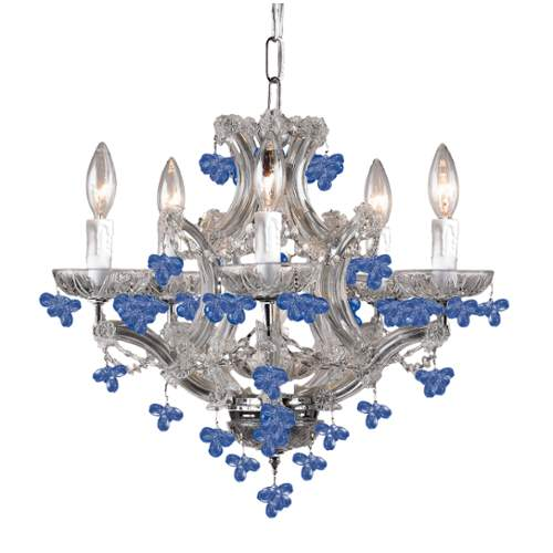 Crystorama 4305-CH-BLUE Six Light Chandelier by Crystorama