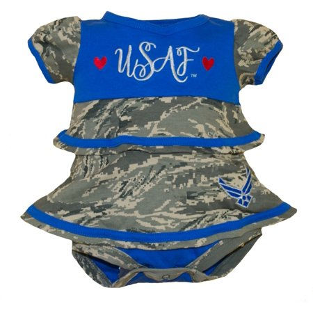 U.S. Air Force Baby Girl Embroidered Ruffle Dress 3-6 Months