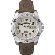 Timex Men's Expedition Traditional Watch, Brown Leather Strap
