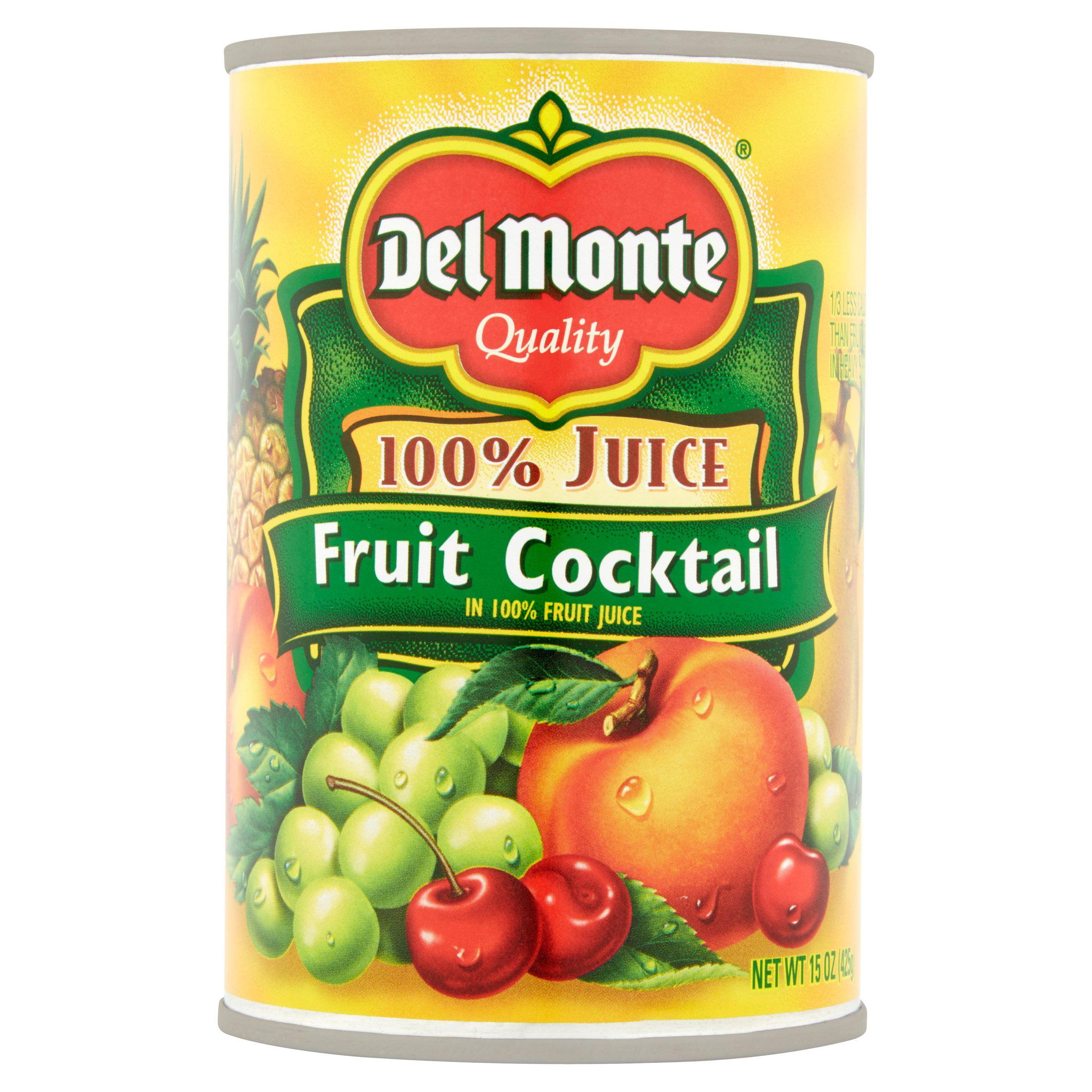 Del Monte 100% Juice Fruit Cocktail, 15 Oz
