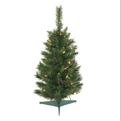 2.5' Pre-Lit Imperial Pine Medium Artificial Christmas Tree - Multi-Color Dura Lights