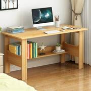 BEFOKA Desktop Computer Desk,Modern Home Office Desk Gaming PC Laptop Desk Work Table,Home Bedroom Study Writing Corner Desk Wood Table,Yellow