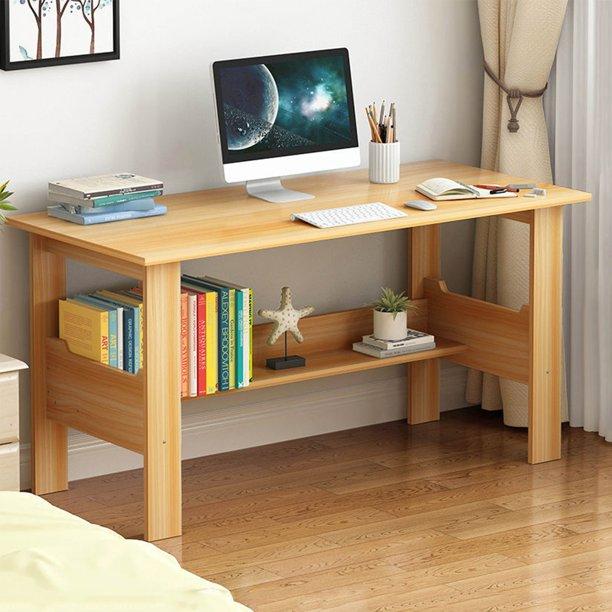 Vaiftilno Home Desktop Computer Desk Simple Student Desk Office Bedroom Study Desk 110x45x72 For Living Room Bedroom Study Office Walmart Com Walmart Com