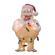 """24"""" Pre-Lit Faux Fur Bumble with Light Strand Christmas Yard Art Decoration - Clear Lights"""