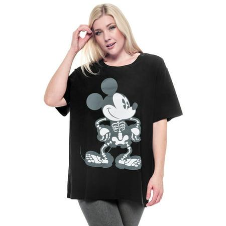 Plus Size Skeleton Shirt (Women's Mickey Mouse Skeleton Plus Size)