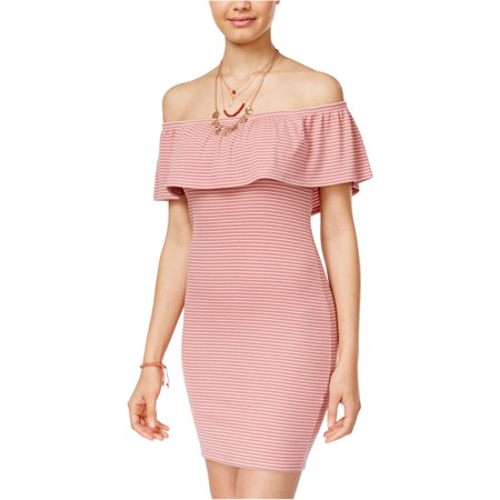 Derek Heart Womens Texture Stripe Bodycon Dress pink L - Juniors