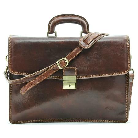 Alberto Bellucci Vernio Single Gusset Briefcase