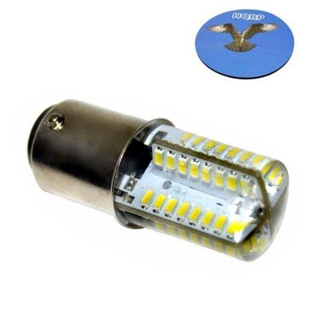 HQRP 110V LED Light Bulb Cool White for Pfaff 2134 / 1050 / 6150 / 1520 / 1530 / 1540 / 1150 Sewing Machine + HQRP Coaster