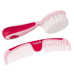 Safety 1st Easy Grip Brush and Comb, Raspberry - 2 Pack