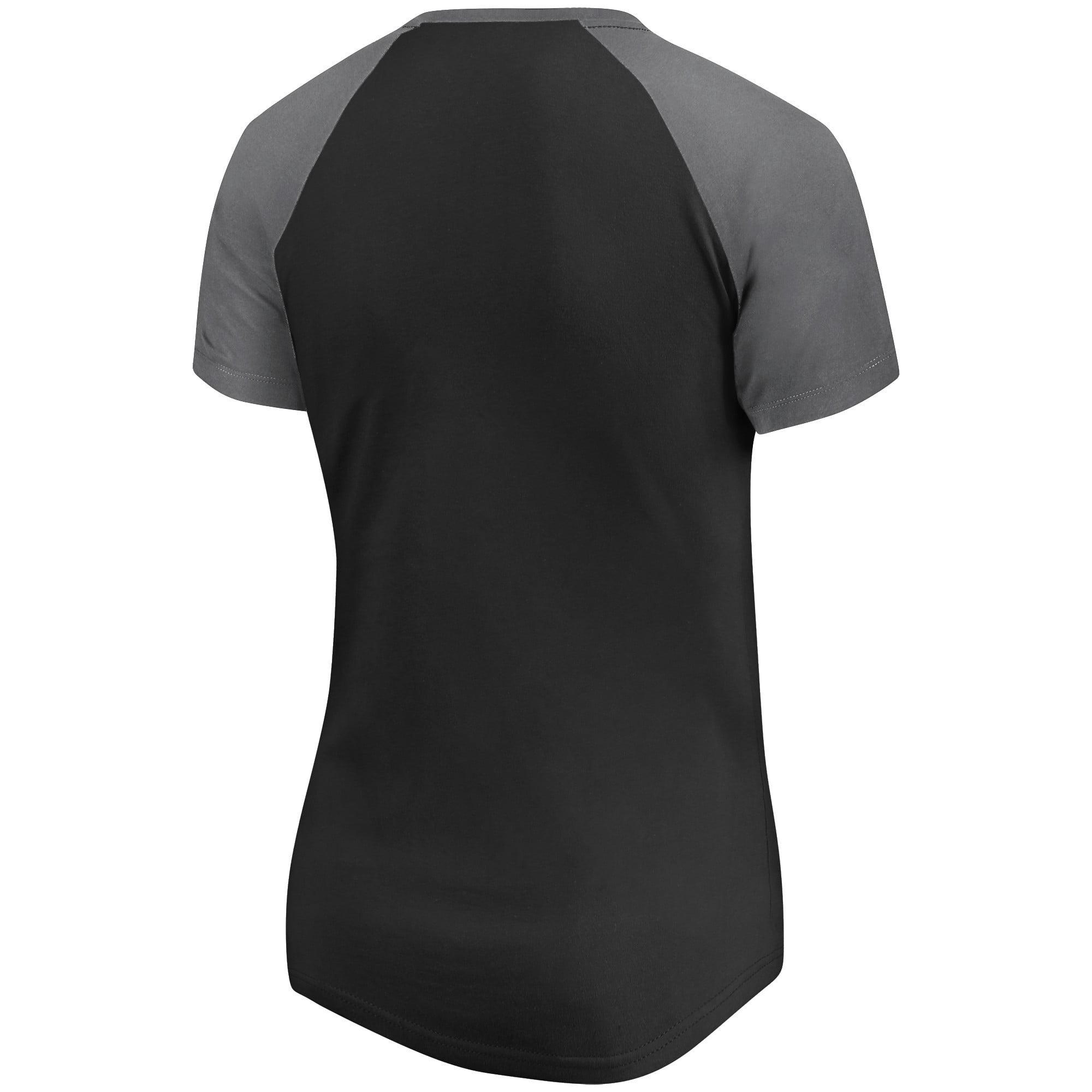 0b578554104 LAFC Fanatics Branded Women s Plus Size Iconic Paid our Dues Raglan V-Neck T -Shirt - Black Gray - Walmart.com