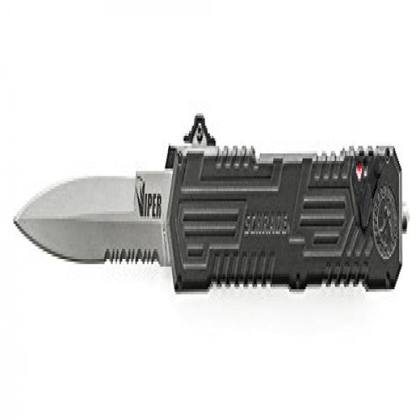 Schrade Viper 3, OTF, Black Handle, Bead Blast Blade, Ser...