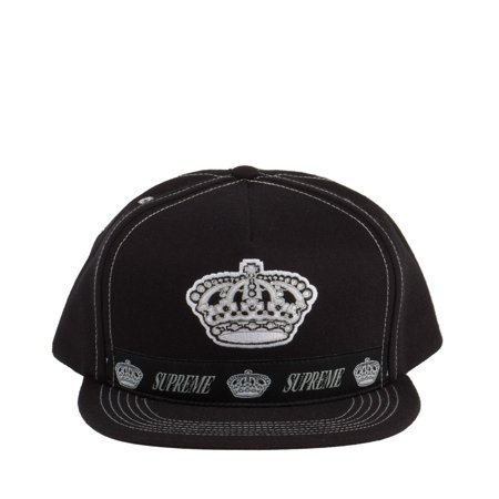 8b755c455245e Supreme Crown Logo 5-Panel Snapback Black White 25719 - Walmart.com