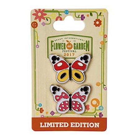 Disney Epcot Flower Garden 2017 Mickey & Minnie Butterfly Limited Pin New Card (Disney Pins Halloween 2017)