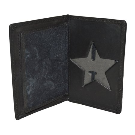 Poice Badge Id holder Bifold wallet with Badge protection