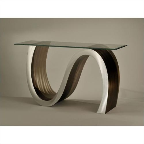 NOVA Lighting Meandering Console Table in Root Beer