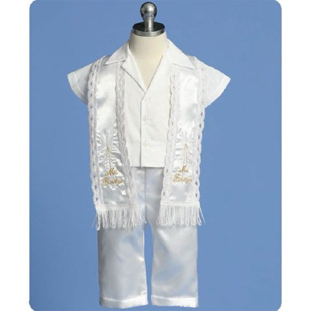 Angels Garment Baby Boy White Pants Stole Christening Outfit Set 3-24M - Dark Angel Outfits
